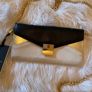 Ted Baker colorblock leather mini bag on chain